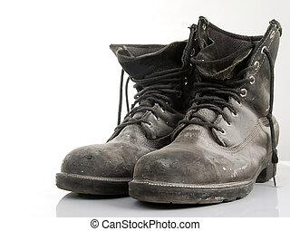 construcción, botas