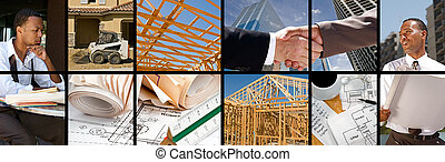construcción, collage