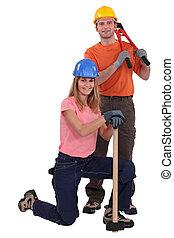 construcción, dúo