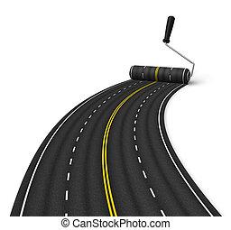 construcción de carreteras, concepto