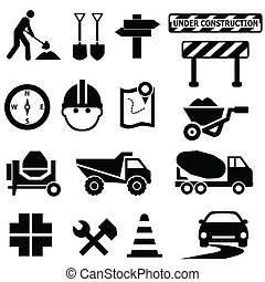 construcción de carreteras, señales
