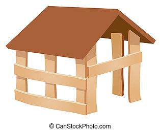 construcción, de, nuevo hogar
