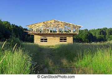 construcción de un nuevo hogar