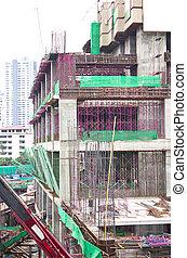 construcción, edificio.