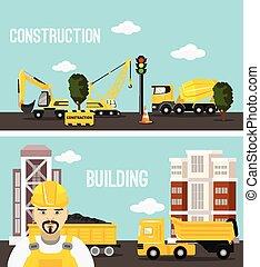construcción edificio, concepto