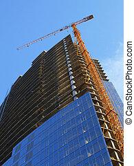 construcción edificio, debajo