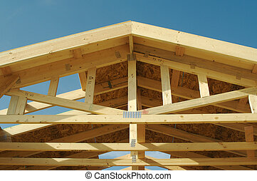 construcción, hogar, encuadrado