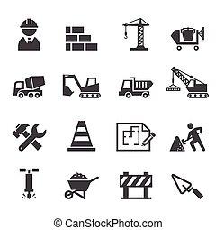 construcción, icono