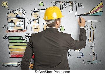 construcción, ingeniero