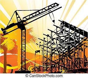 construcción, objetos