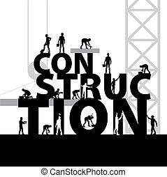 construcción, símbolo, vector