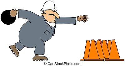 construcción, tazón