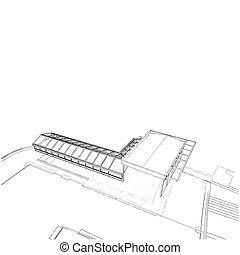 construcción, techo