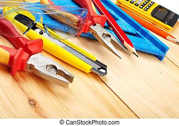 construcción, tools.