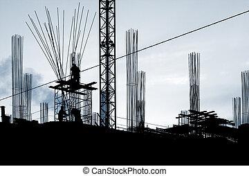 construcción, trabaja