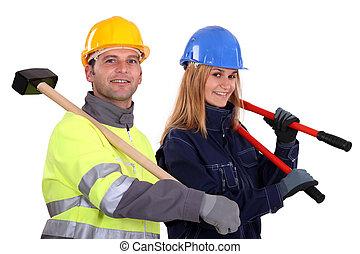 construcción, tripulación