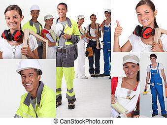 construcción, trueques