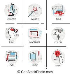 Construct Build Explore New Idea Inspiration Creative Process Business Icon