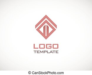 Construct fasion luxury concept abstract logo template