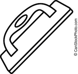 Construct wood tool icon, outline style