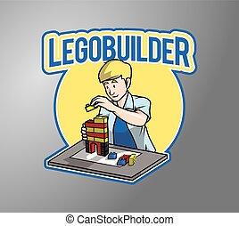 constructeur, bloc, illustration