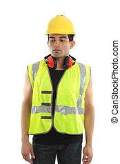 constructeur, charpentier, ouvrier construction