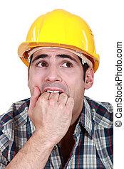 constructeur, effrayé
