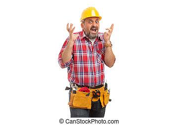 constructeur, paniqué, expression