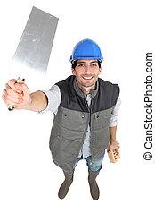 constructeur, truelle