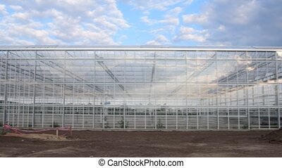 Constructin of industry greenhouse. Building of industry...