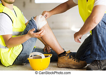 Construction accident - Construction worker has an accident ...