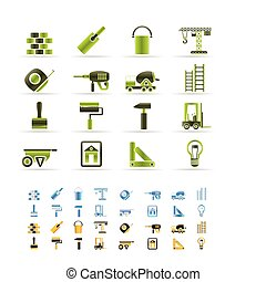 Construction and Building icons - vector Icon Set - 3 colors...