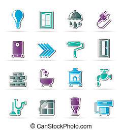 Construction and home icons - Construction and home ...