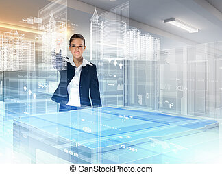 Construction and innovation technologies - Image of young ...