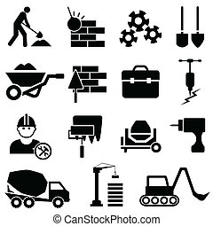 Construction and machinery icons