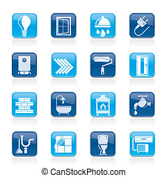 Construction and renovation icons - Construction and home ...
