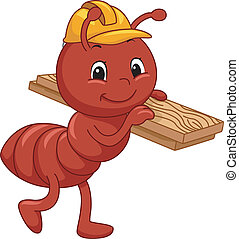 Construction Ant Mascot - Mascot Illustration Featuring an...