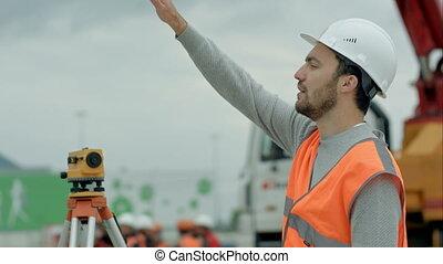 construction, architecte, site, business