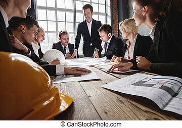 construction, architectes, bureau