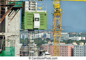 construction, ascenseur