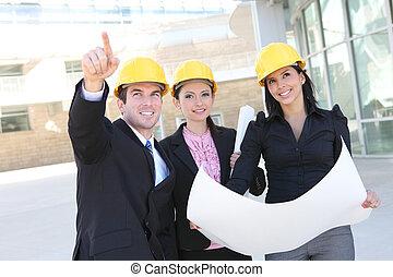 construction, bâtiment équipe
