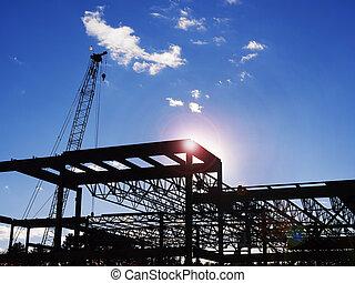 construction, bâtiment commercial