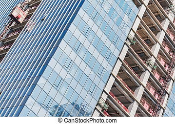 construction, bâtiment, shenzhen., time., logement, vue, extérieur