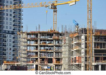 construction, bâtiment, sous
