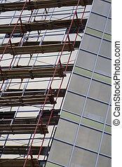 construction bâtiments, 2, site, bureau