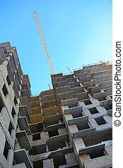 construction bâtiments, haut-ascension