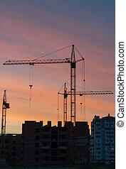 construction, bâtiments, haut-ascension