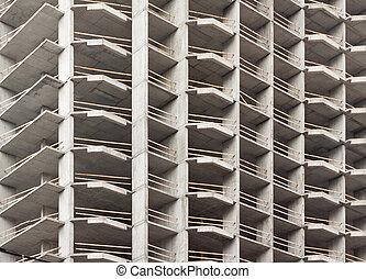construction bâtiments, moderne, panneau
