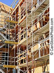 construction bâtiments, moderne, site