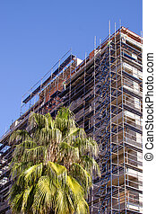 construction bâtiments, site
